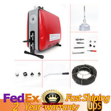 346 Pipe Drain Cleaner Auger Cleaning Machine 500w Snake Sewer Clog Gq 100