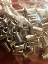 Pack 50 4mm splined aluminium nutsert rivnut (8a)