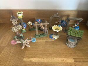 Fairy Dolls House Garden Miniature Fence Pot Ladybird Bird Slide Seesaw Bird