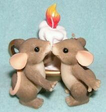 Fitz & Floyd Charming Tails Candle Light Kisses Mouse Figurine Mib