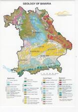 AK Geologische Karte von Bayern in Englisch