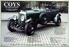 1989 Classic Car Advert Photo Print - 1926 6.5-Litre 'Speed 6 Racing' BENTLEY Ad