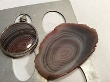 New listing Lapidary Botswana Agate Slab Multi-Color Gem Grade for Cabochon or for Display