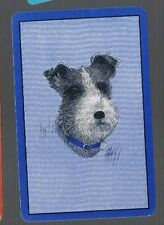 PLAYING SWAP CARDS 1 SINGLE  VINT  U.S  AWESOME  IMAGE  TERRIER  DOG 756