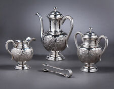 ANTIQUE CHINESE EXPORT STERLING SILVER TEA POT TEAPOT OR COFFEE SET