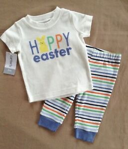 CARTER'S Easter Outfit Top & Pant Boy or Girl 2PC Size 3 Months NWT Ret $22