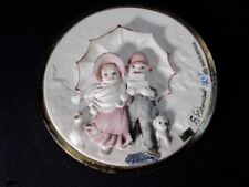 G. Armani Capodimonte Children Brass-Plated Cameo Plaque - Hardest One To Find