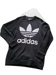 Adidas Originals Size 12 Black Logo Sweatshirt