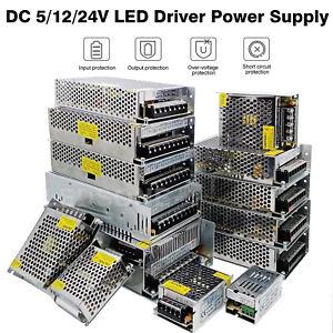 DC 12V / 5V / 24V LED Driver Transformateur Electronique Alimentation Électrique