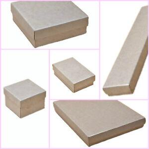 12 x Pack Silver Printed Kraft Paper Jewellery Gift Boxes / Wholesale/ Bulk Buy
