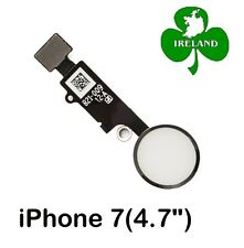 """For iPhone 7 4.7"""" Home Button Fingerprint Touch ID Flex Replacement White"""