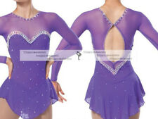 Popuplar Ice skating dress. Purple Figure Skating Dance Baton Twirling Costume