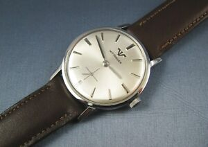 Vintage Longines Wittnauer Stainless Steel Manual Winding Mens Watch 17J 1960s