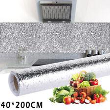 Self Adhesive Aluminum Foil Kitchen Cabinet Wall Sticker Wallpaper Oil-proof USA