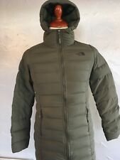 Women's THE NORTH FACE Stretch Down Parka  SIZE SMALL,GREEN .NWD.100% AUTHENTIC.