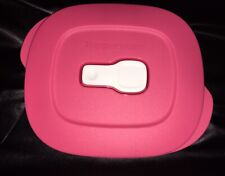Tupperware Crystal Wave Rectangle Replacement seal/lid - Pink | Microwave