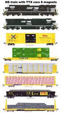 Norfolk Southern TTX Rail Box, Rail Gon Freight Train 8 magnets Andy Fletcher