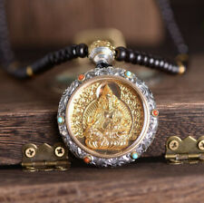 Wealth with Necklace in Sandalwood Buddhist F05 Anhänger Silber 925 God of