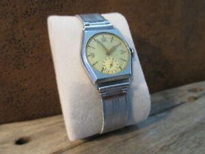 Vintage Uhr, Werk HANHART, original Armband 40er Jahre, an Bastler