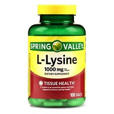 New Spring Valley L-Lysine Tablets 1000 Mg 100 Ct