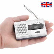 More details for portable mini pocket travel am fm radio battery powered built-in speaker stereo