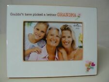 Hallmark COULDN'T HAVE PICKED A BETTER GRANDMA 4 X 6 FRAME White with Flowers