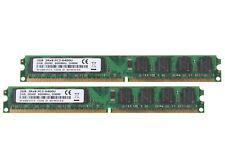 NEW 4 GB 2X 2GB PC2-6400 PC6400 DDR2-800MHZ RAM Dimm Desktop Memory Low Density