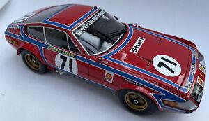 Ferrari 365 GTB4 diecast model race car Le Mans 1974 No. 71 1:18th Kyosho 8164A