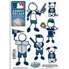 1 NEW 5'' x 7'' SHEET OF 6 MLB SEATTLE MARINERS FAMILY DECALS BASEBALL