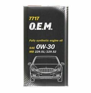 Mannol - O.E.M. 0W30 7717 Car Engine Oil C2/C3 MB229.51/229.52 Synthetic - 1L