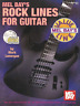 ROCK LINES FOR GUITAR TAB Sheet Music Book & CD Shop Soiled