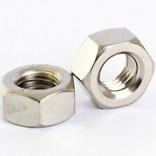"""304 Stainless Steel UNC BSW Hex Full Nuts 4# 6# 8# 10# 12# 1/4"""" 5/16"""" 3/8"""" 1/2"""""""