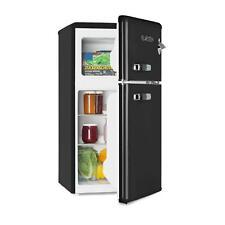 Retro Kühl- Gefrierkombination Kühlschrank Tiefkühler 85L Gefrierfach A+ schwarz