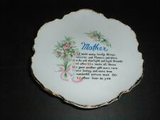 "MOTHER'S DAY 7""  Floral Design & Verse/Poem Collector Plate - Made in Japan (9X)"