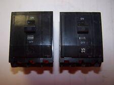 2) Square D 20 Amp Circuit Breaker 3 Pole 240 Vac Qob320 Lot Of 2