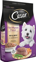 NEW Cesar Small Breed Dry Dog Food,Real Beef All Flavors And Sizes