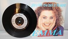 "7"" Single - Emma - Give A Little Love Back To The World - 1990 Eurovision Entry"