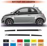 Fiat 500 - Autocollant - Bandes damiers - Stckers décoration adhésif Kit