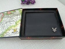Lyle & Scott Black Leather Credit Card Holder Wallet with Gift Box