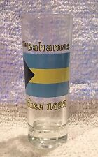 Vintage? The Bahamas Shooter / Tall Shot Glass National Country Flag Since 1492