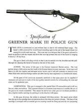 WW Greener c1936 Police Gun MK III Pamphlet