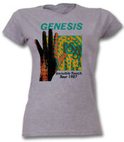 Genesis T Shirt Invisible Touch Ladies Fitted Grey Official S M L XL Collins