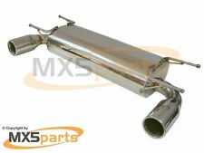 Dual Exit Stainless Steel Sports Exhaust Silencer MX-5 Mk3 Mk3.5 Mk3.75 2005>15
