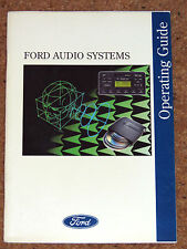 FORD AUDIO SYSTEMS OPERATING GUIDE 1995 - Radio Cassettes, CD Players & Changer