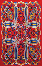 """3D BRIGHT PAISLEY Psychedelic Tapestry/Wall Hanging 60""""x90"""" FREE 3D GLASSES"""