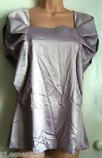 Pied A Terre Pleat Sleeved Top - Purple - Size 12 BNWT