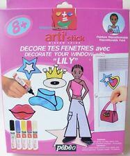 Décore tes Fenêtres avec Lily - 10 modèles - Peinture repositionnable