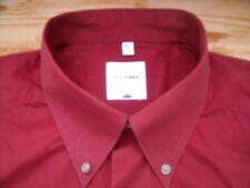 TA327 Olymp Tendenz Businesshemd Kombimanschette 42 Rot leicht Bordeaux meliert
