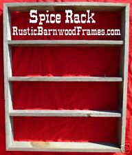 barn wood barnwood SPICE shelf shelves rack racks