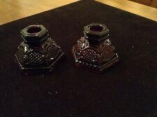 Avon 1876 Cape Cod Ruby Red Candle Holders
